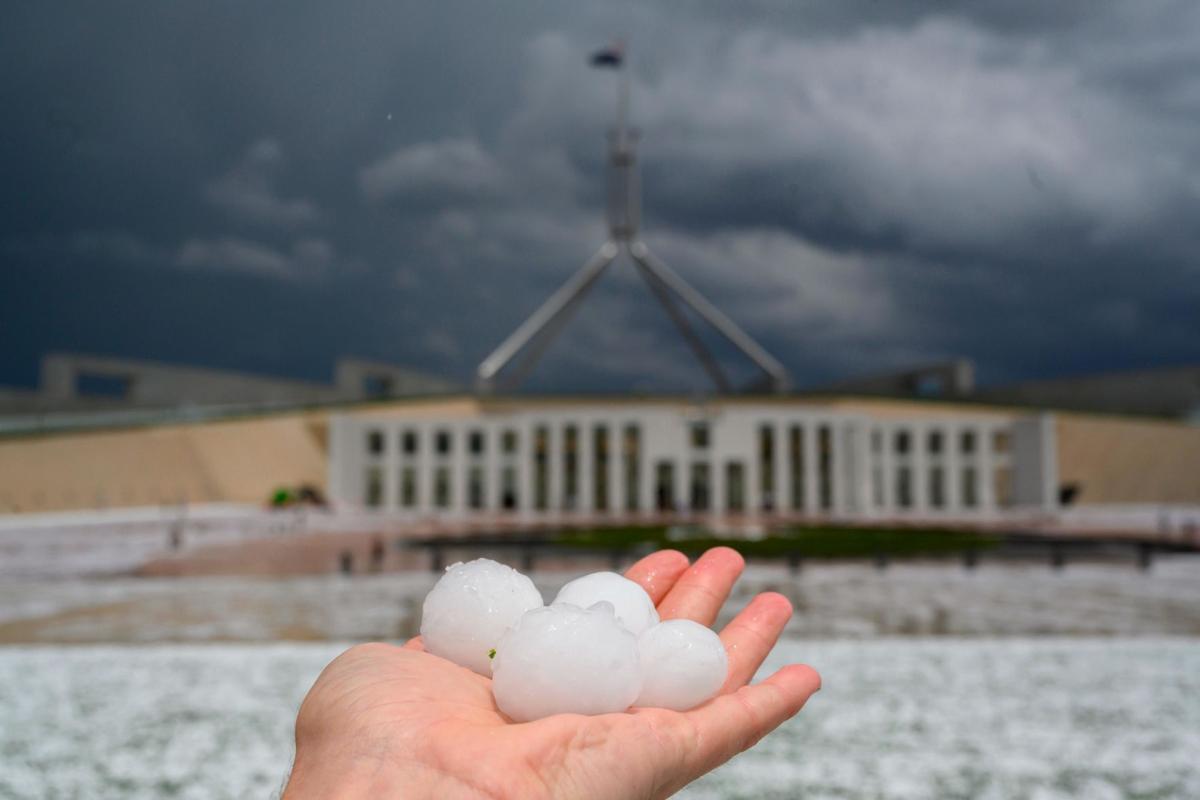Hailstorm in Australia