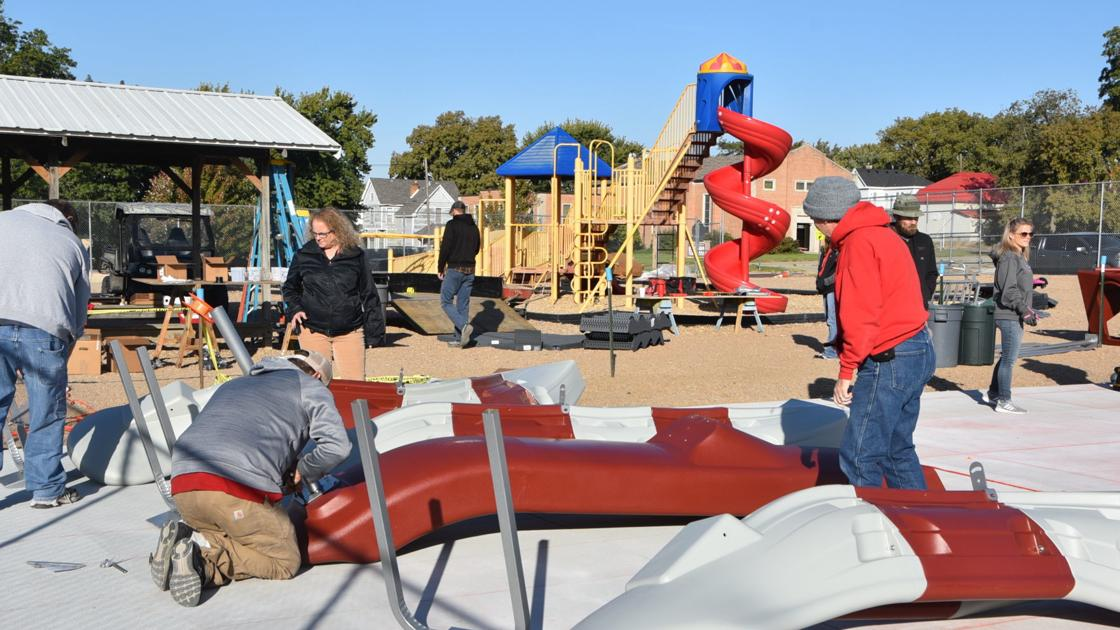 Central Elementary students receive new playground through Exmark grant