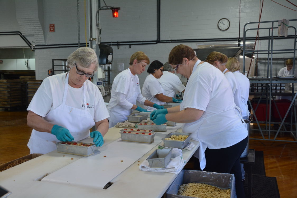 fruitcake assembly line