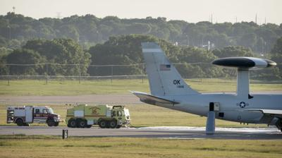 US Air Force Jet Engine Fire, 7.11