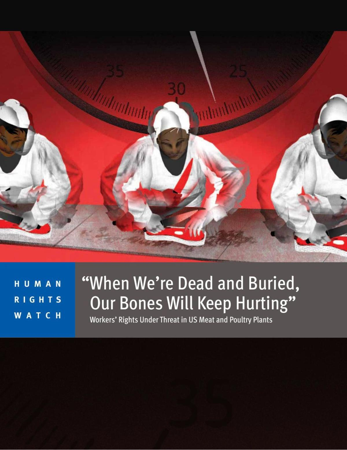 Human Rights Watch report on meat processing