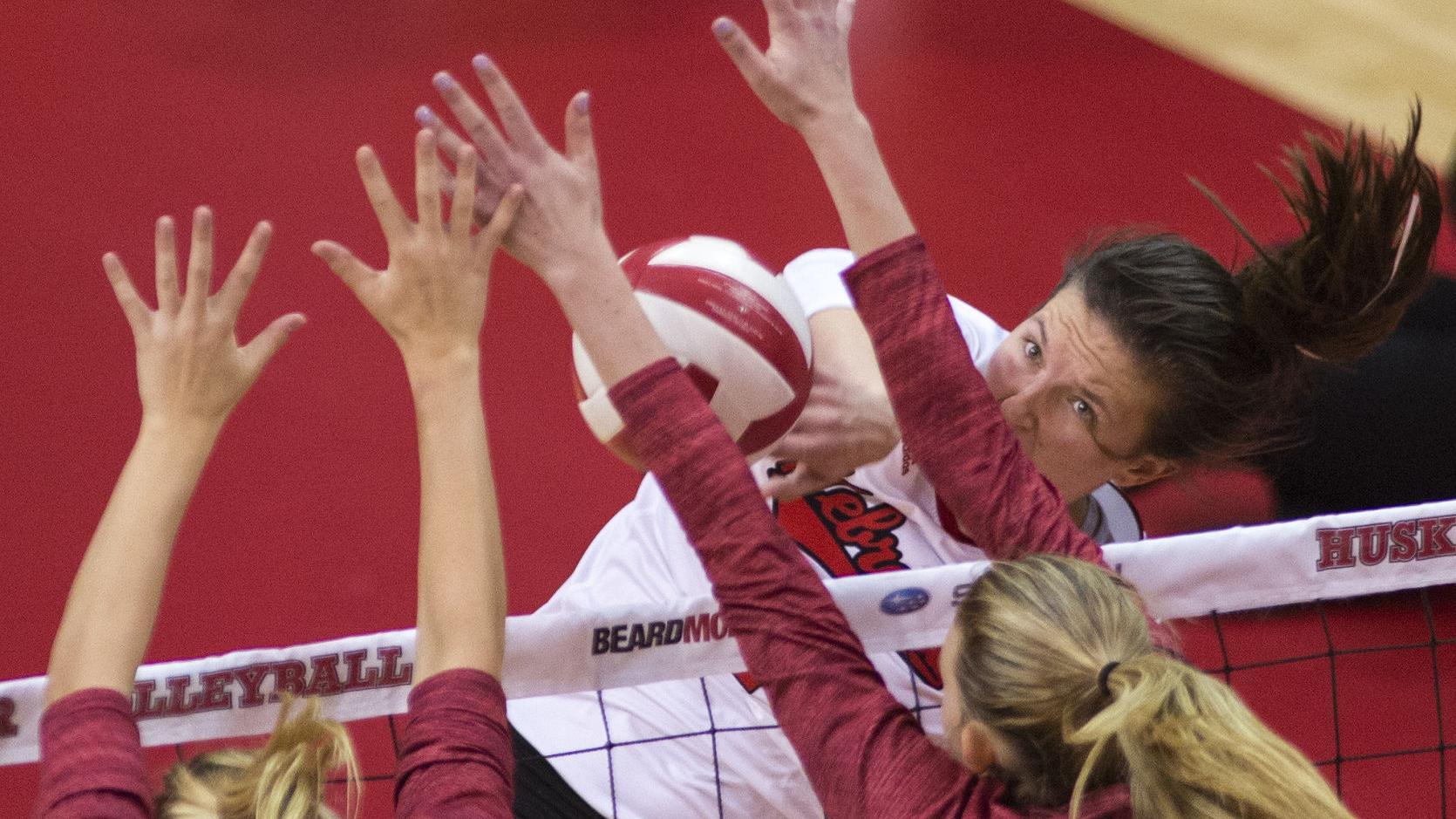 Foecke, Maloney moving up Nebraska volleyball program's all-time charts