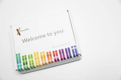 """The contents of a 23andMe genetic testing kit as seen on Jan. 3, 2018 in Silver Spring, Md. The results were called """"most confounding"""" in a new report."""
