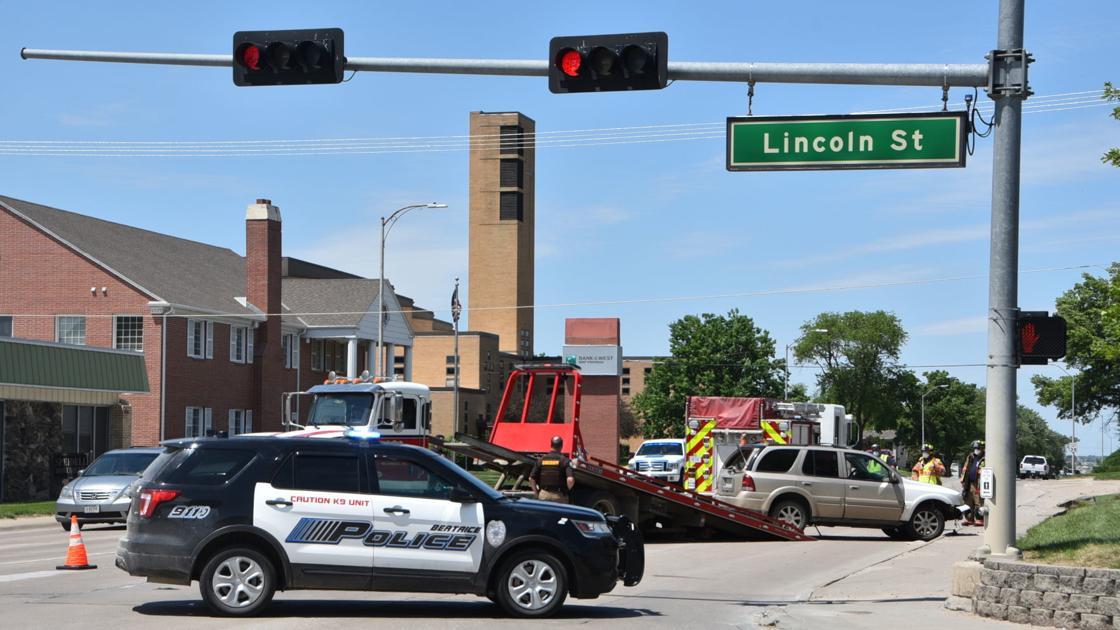 Minor overturns vehicle near on Highway 77