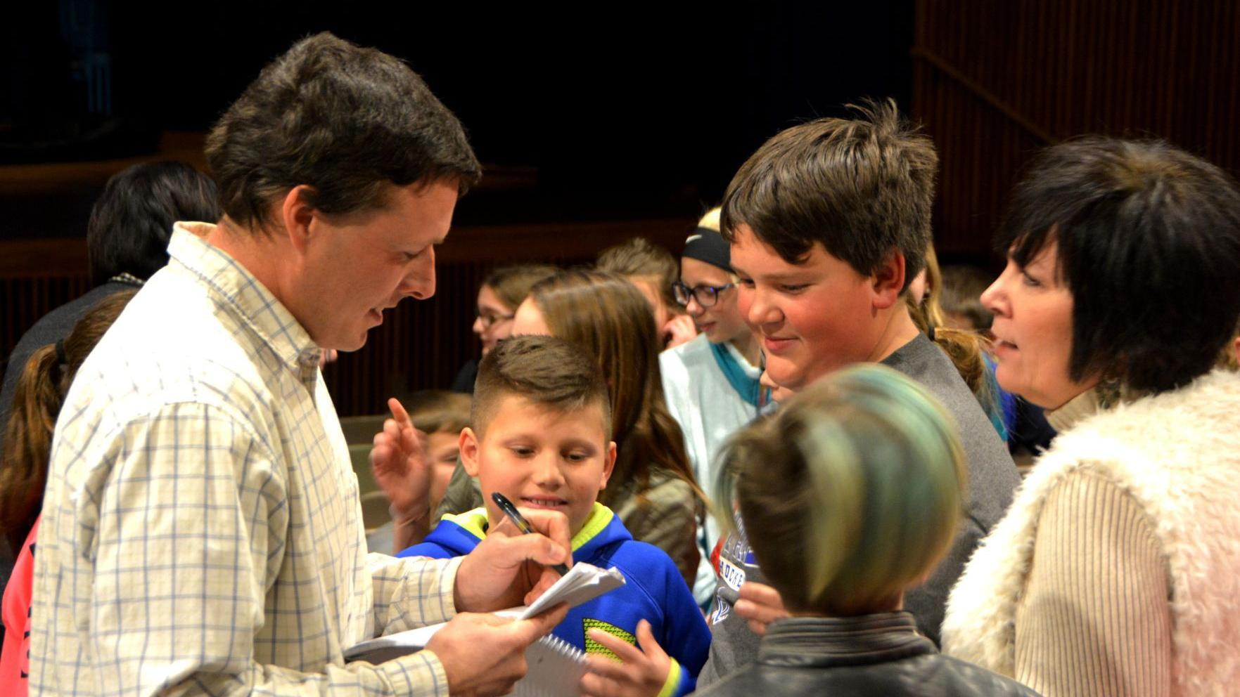Tri County goes viral: YouTube star visits elementary students