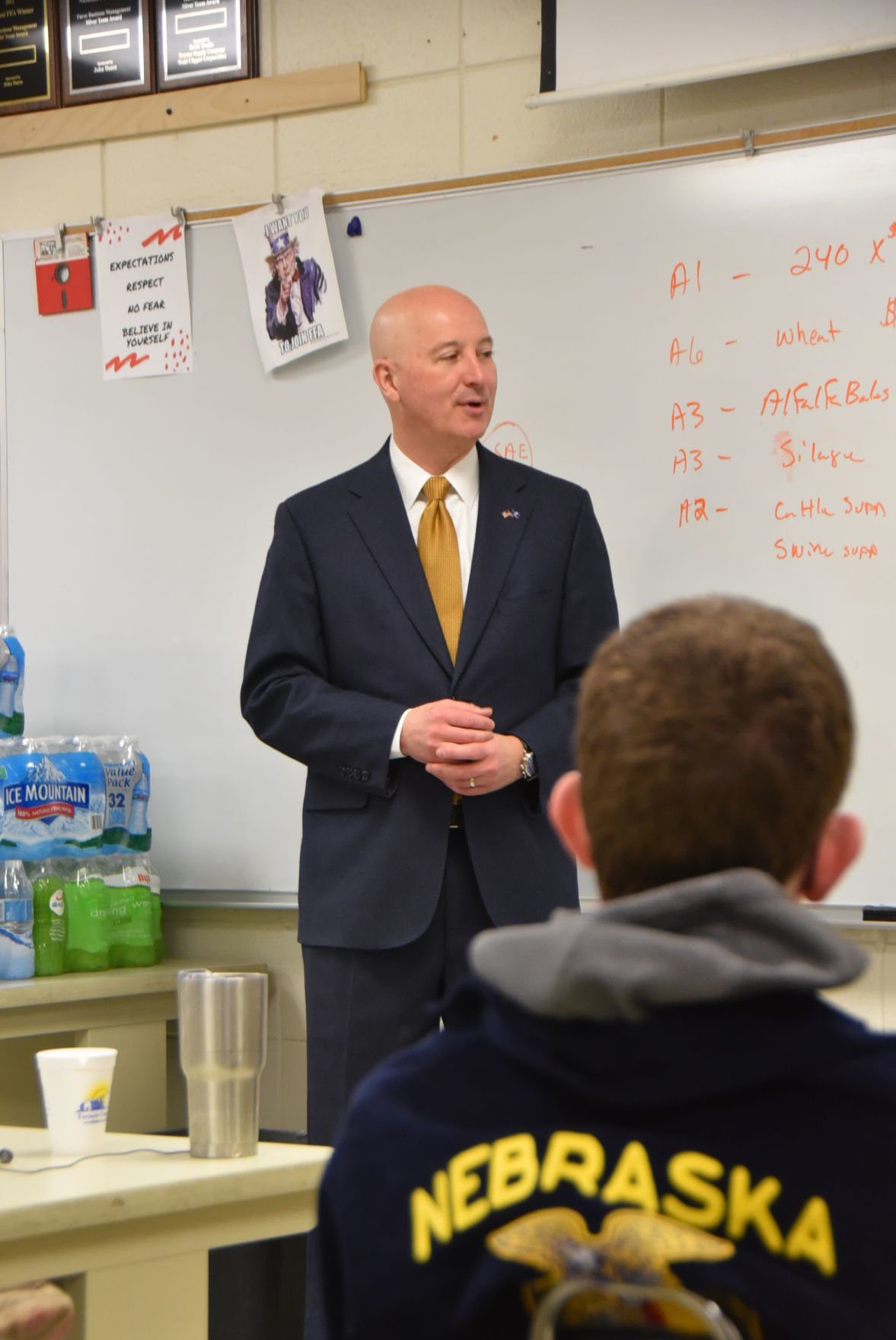 Pete Ricketts at Norris