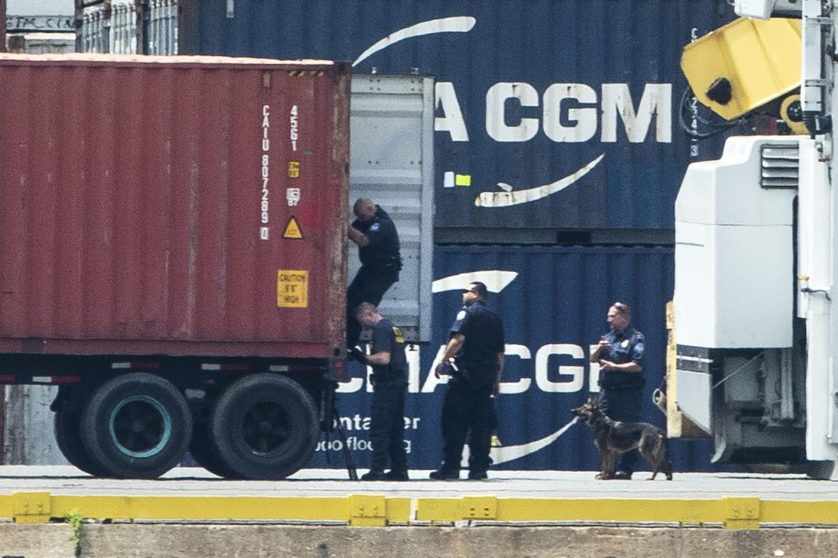 Over 16 tons of cocaine seized at Philadelphia port in one of the