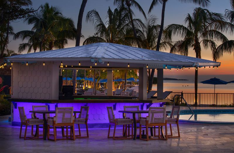 The Kokomo poolside bar at Postcard Inn Beach Resort in Islamorada.