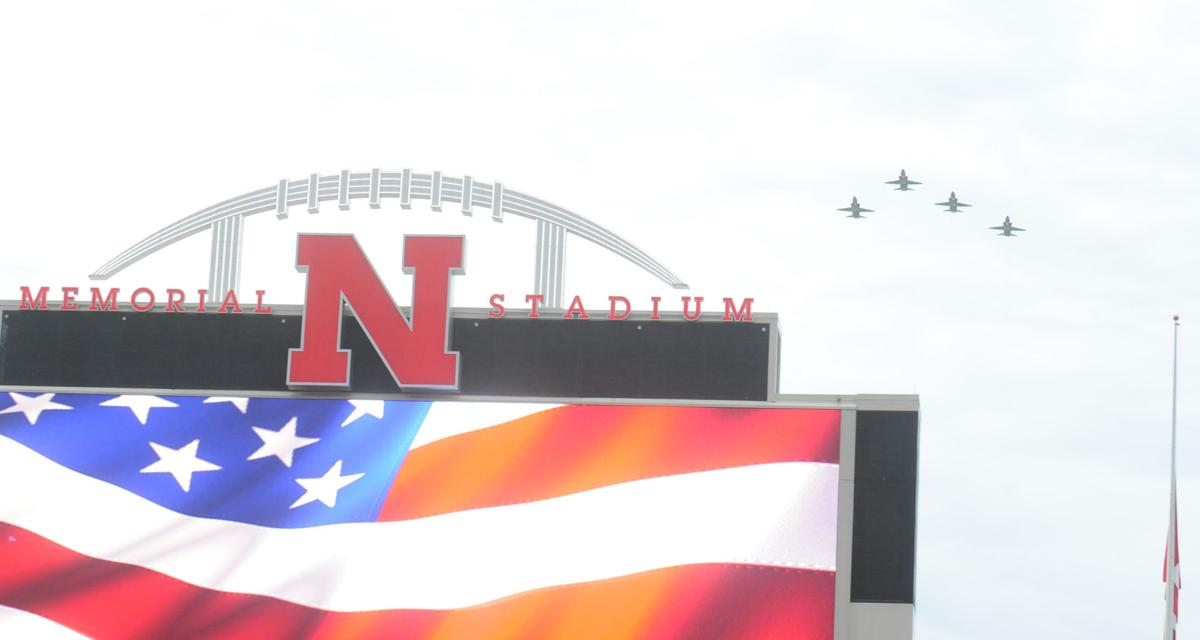 Nebraska football flyover 2