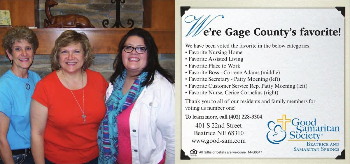 We're Gage County's Favorite!