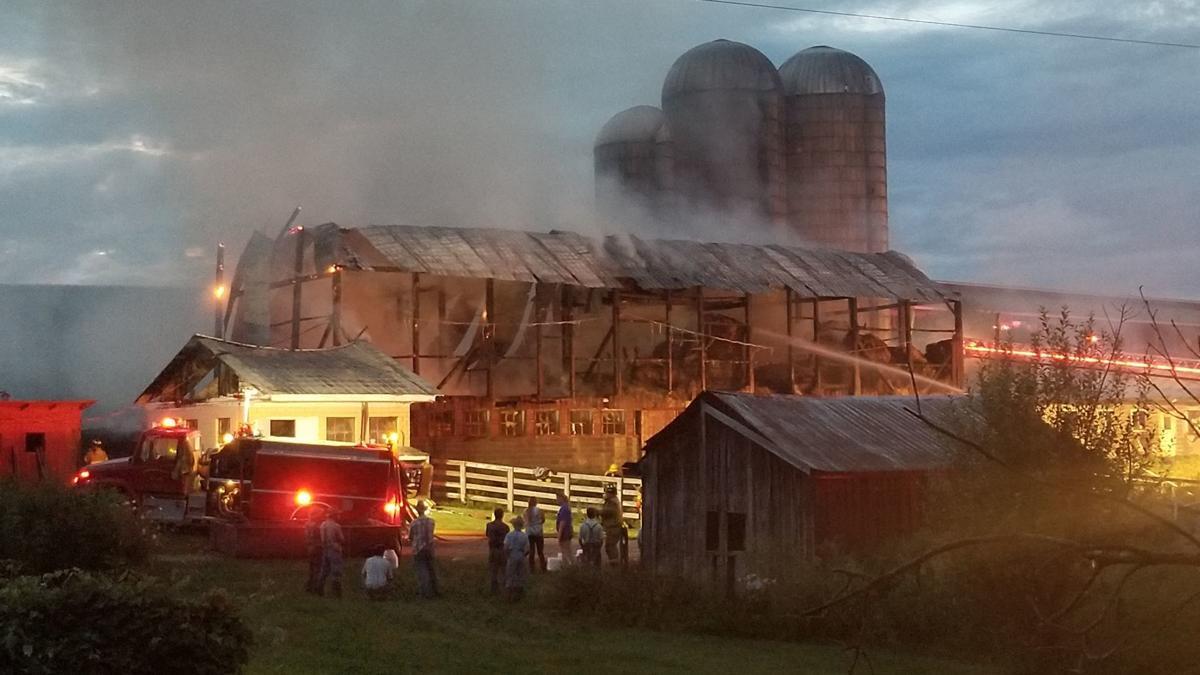 Dairy barn fire