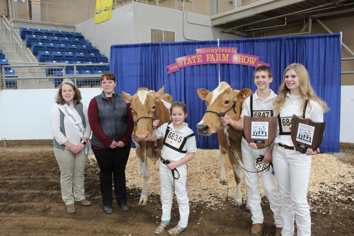 Area cattle breeder perform at the Farm SHow