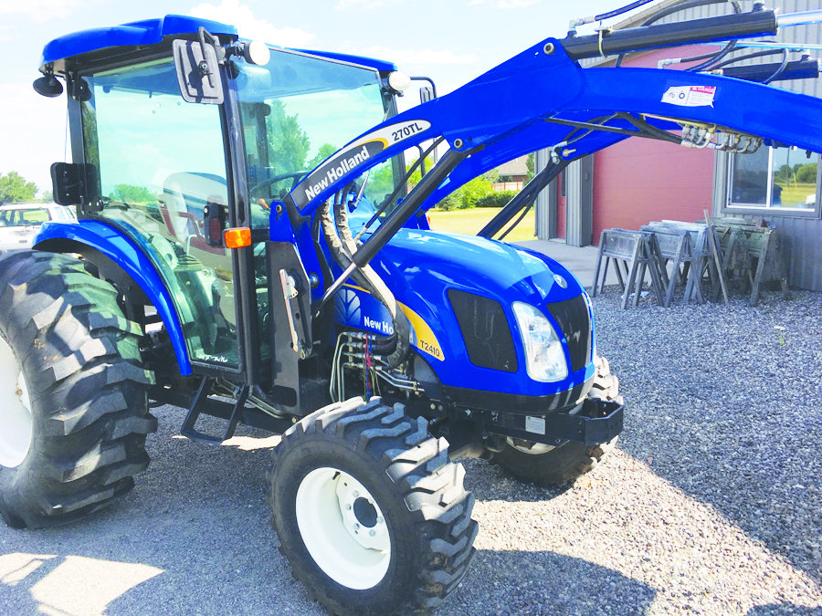 2007 new holland t2010 55 horse turbo w bucket loader heavy