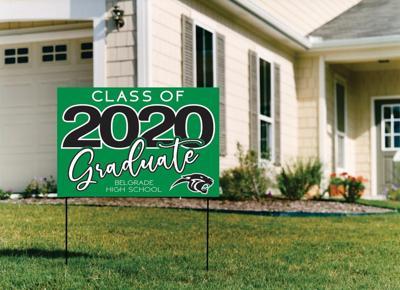 Senior Sober sign graduation 2020