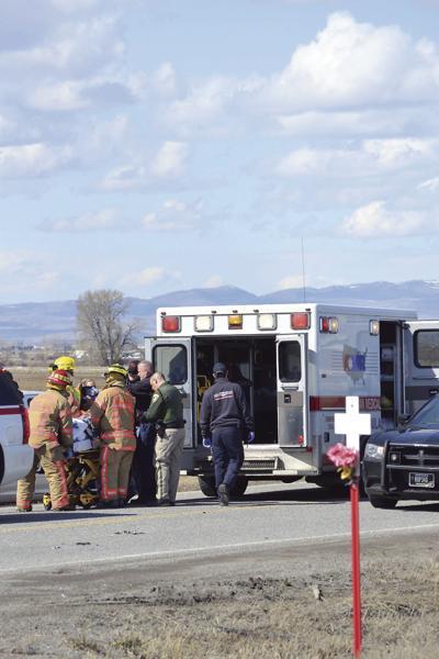 Central Valley crash amublance