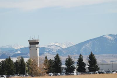 Gallatin Field airport tower