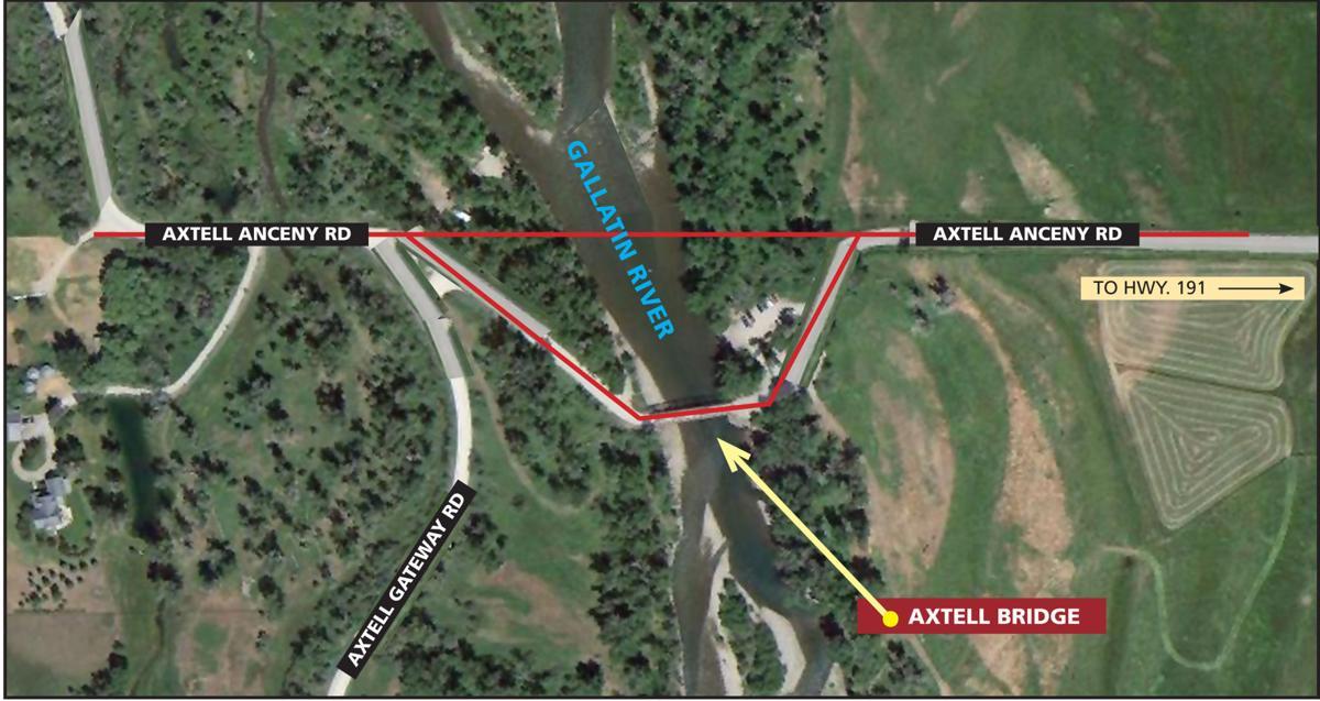 Axtell Bridge map
