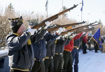 Veterans Day honor guard gun salute