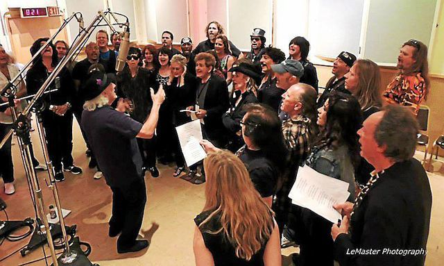 Rock musicians perform historic song to benefit St. Jude's Hospital