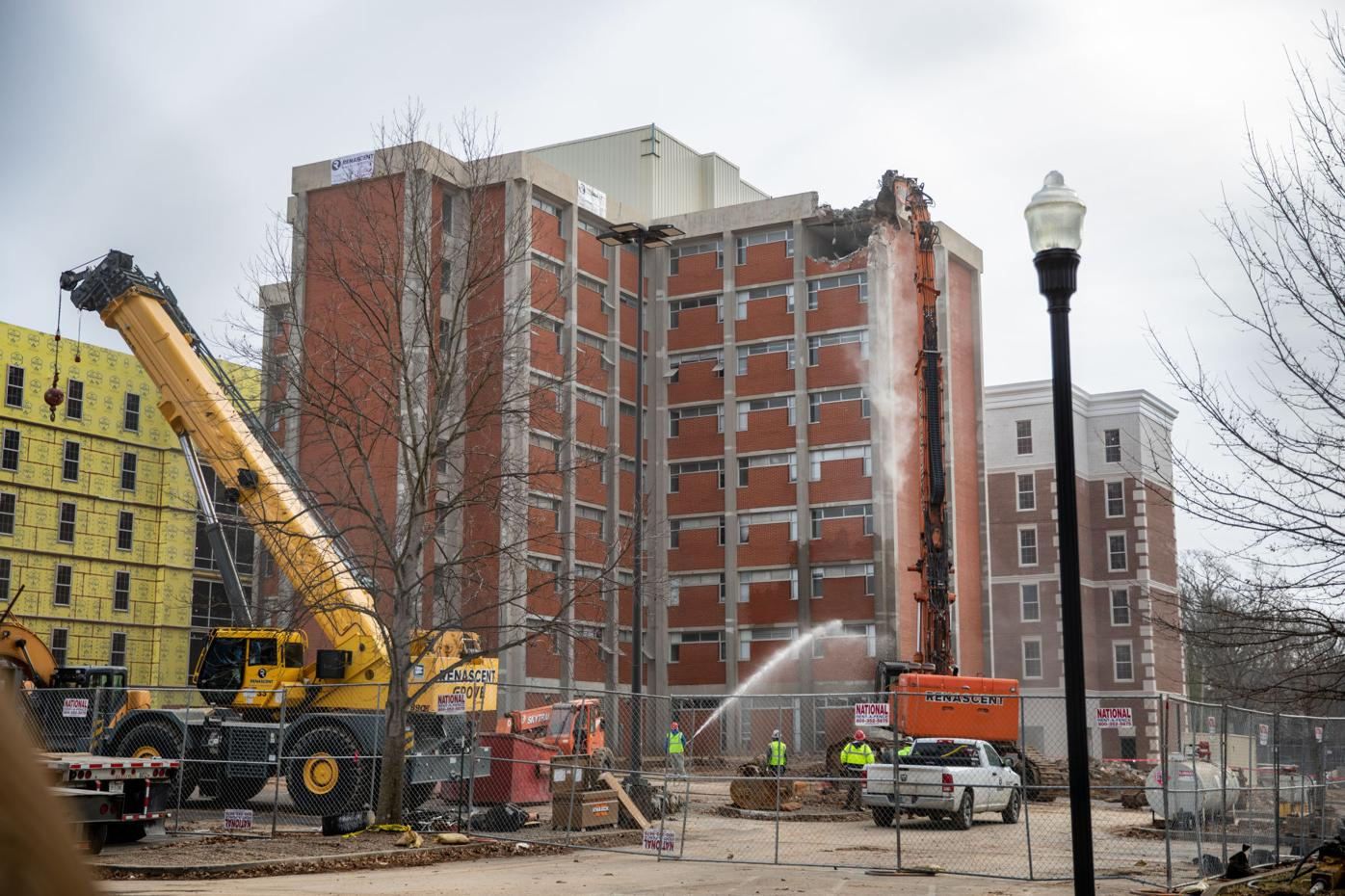 'First bite' taken in demolition of WKU's Barnes Campbell Hall
