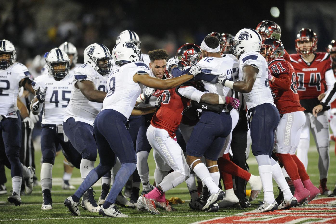 SLIDE SHOW: Images from the ODU/WKU brawl | WKU Sports ...