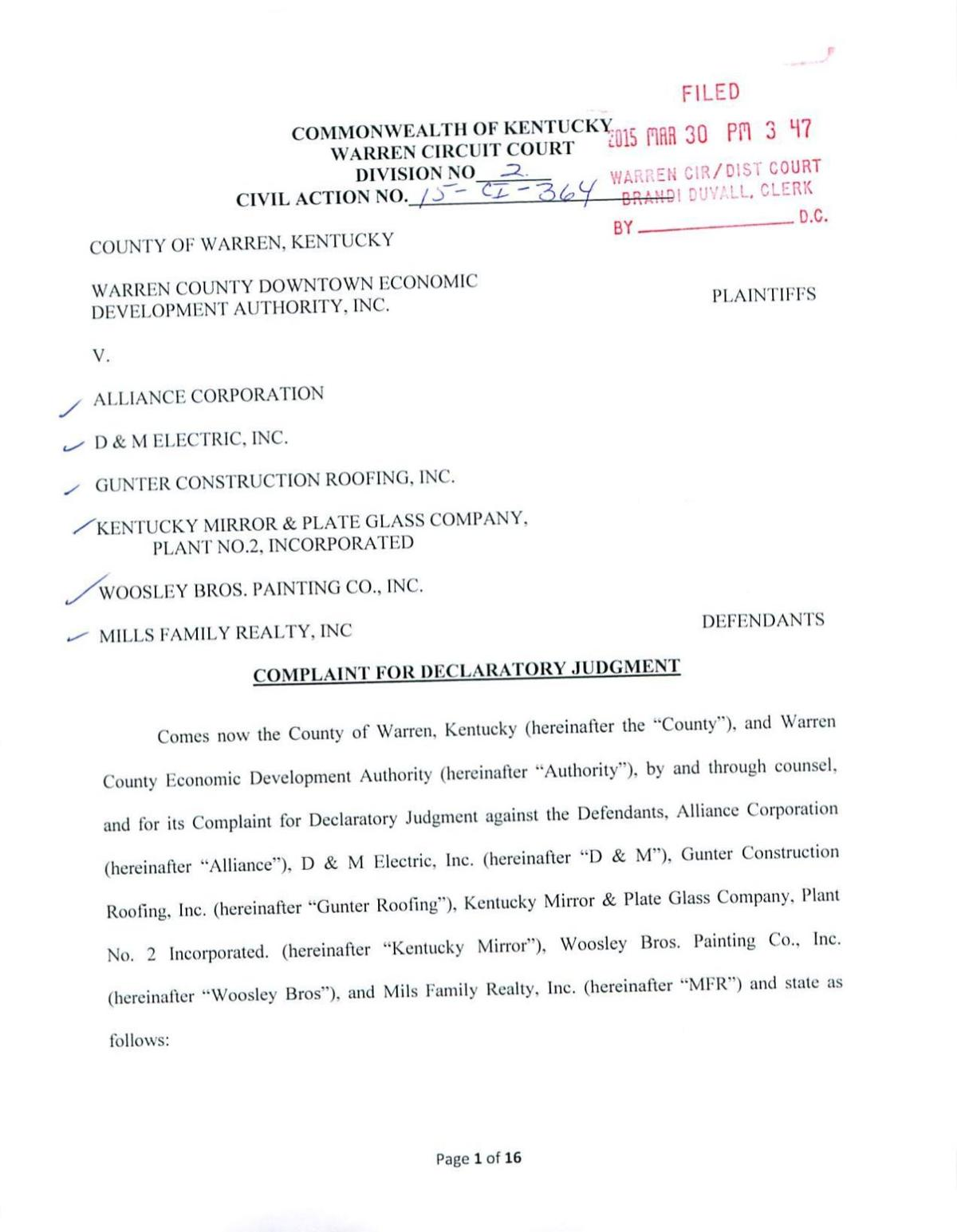 Complaint for Declaratory Judgment