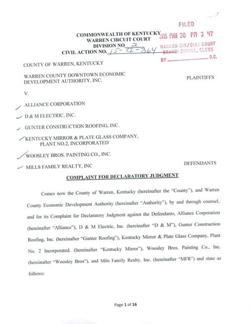 Complaint Filed Against Contractors Mills Family Realty News