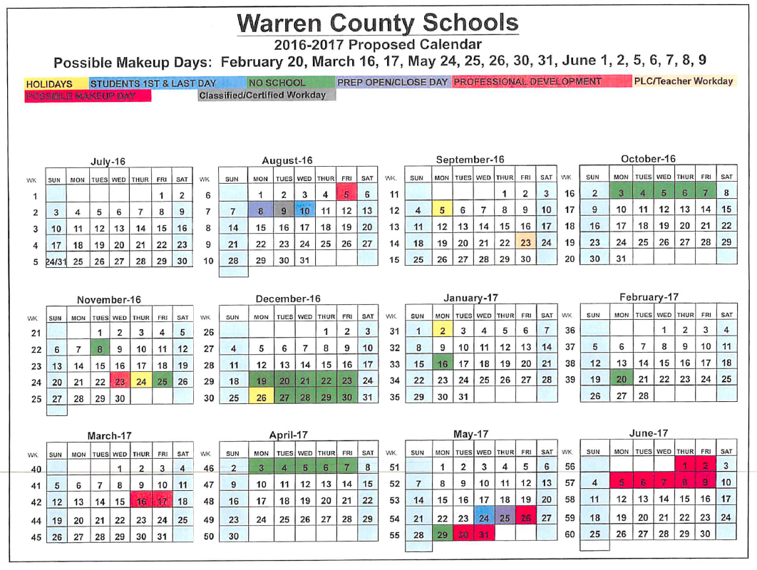 County schools adopt calendar