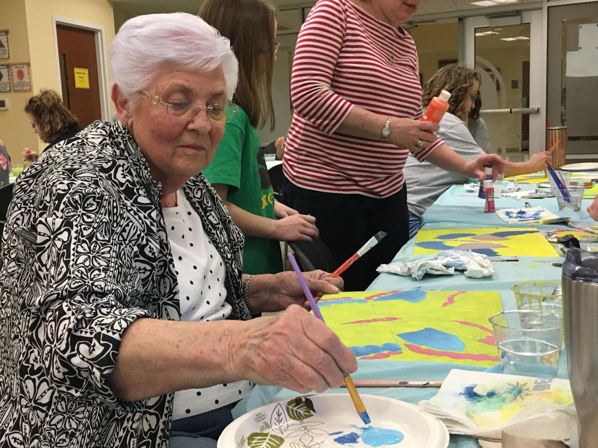 Glasgow library hosts paint party