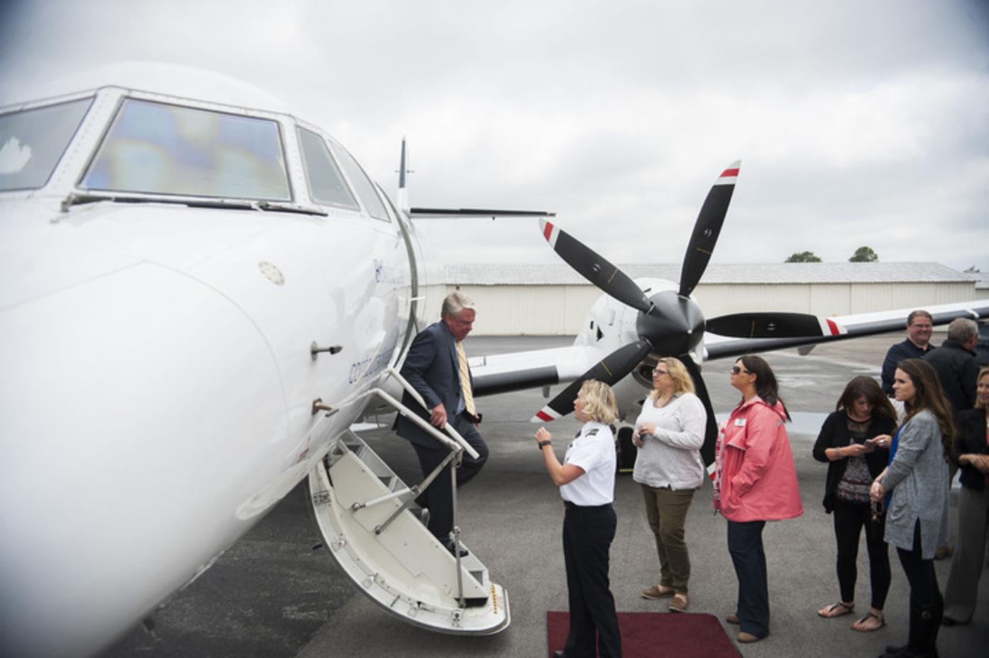 Local commercial air service takes flight after 44-year absence