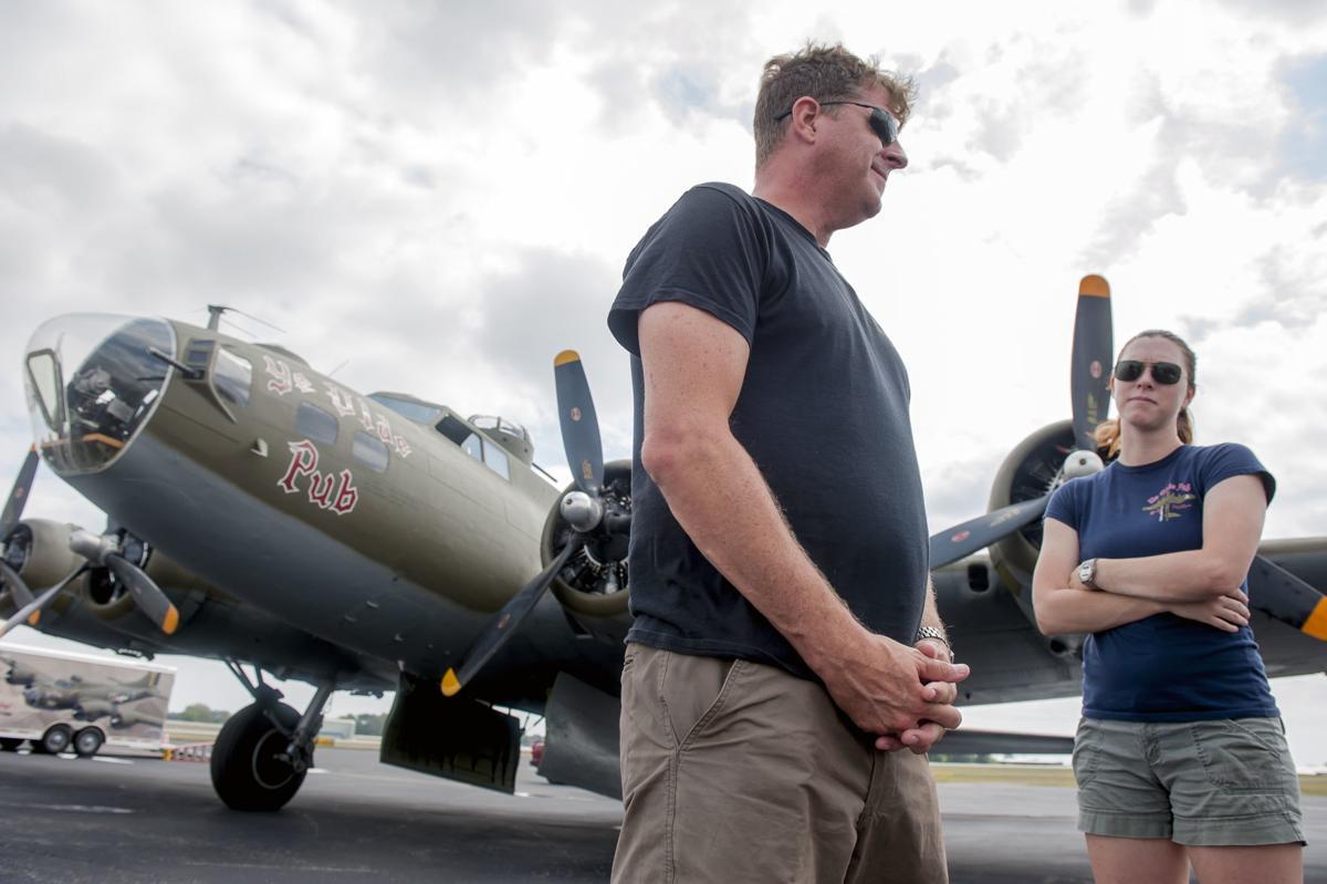 B-17 Flying Fortress stops in BG