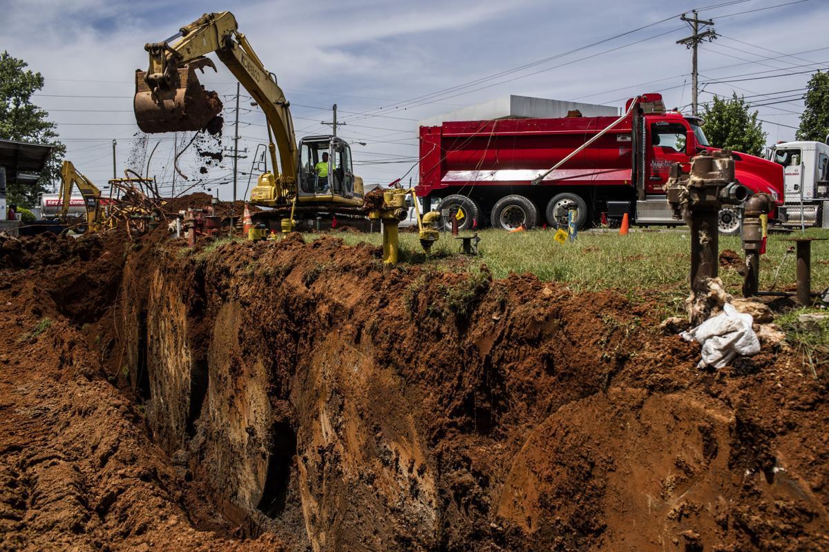 Key Oil excavating fuel tanks