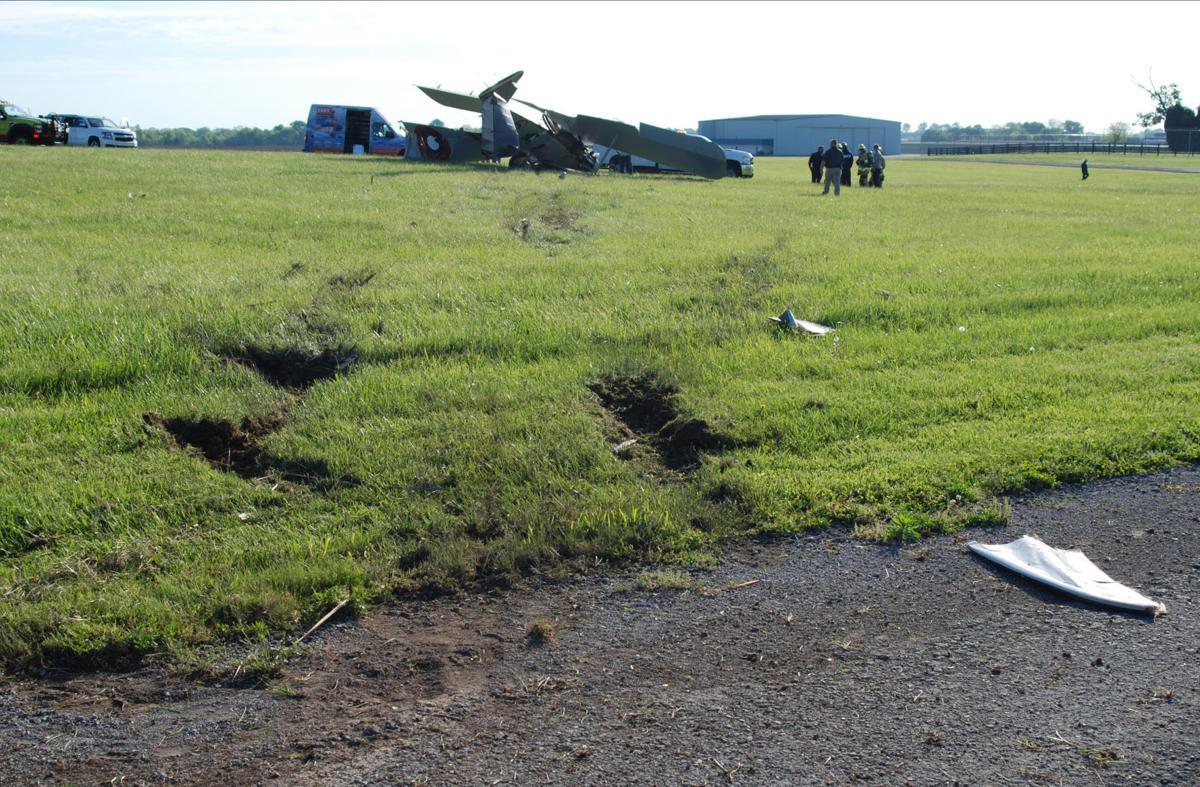 Pilot walks away from crash of WWI biplane