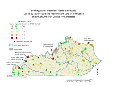 PFAS in drinking water treatment plants in Kentucky