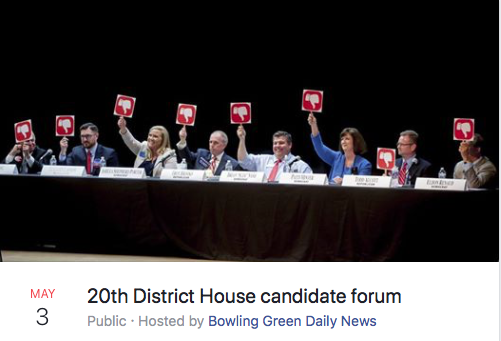 May 3, 2018: 20th District House candidates forum