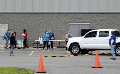 Food distribution events draw big crowds