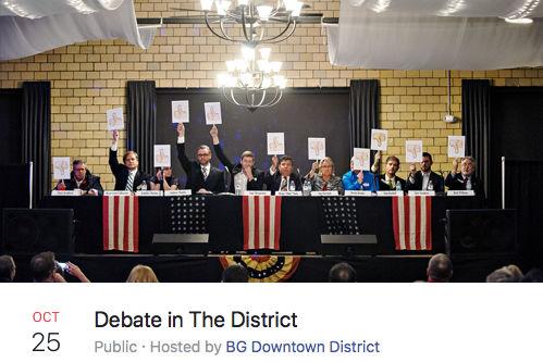 October 25, 2016: Debate in the District