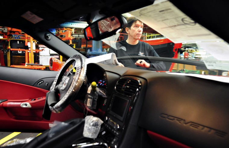 Recovered quadriplegic works on Corvette assembly line