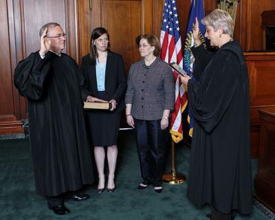 Minton sworn into third term as chief justice