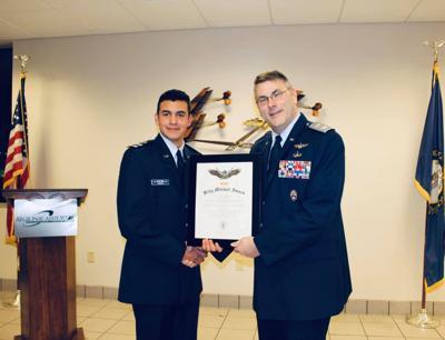 Vargas proved to cadet second lieutenant