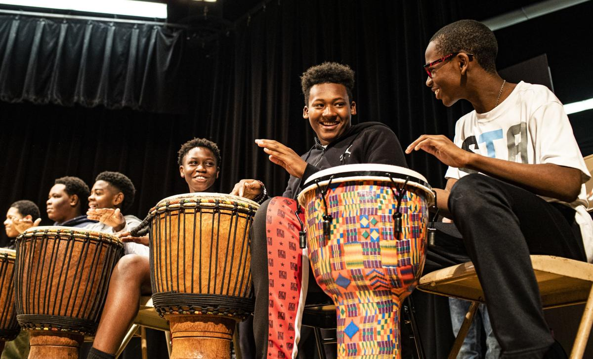 Baba Musa and Nature's Drummers perform at BGJHS