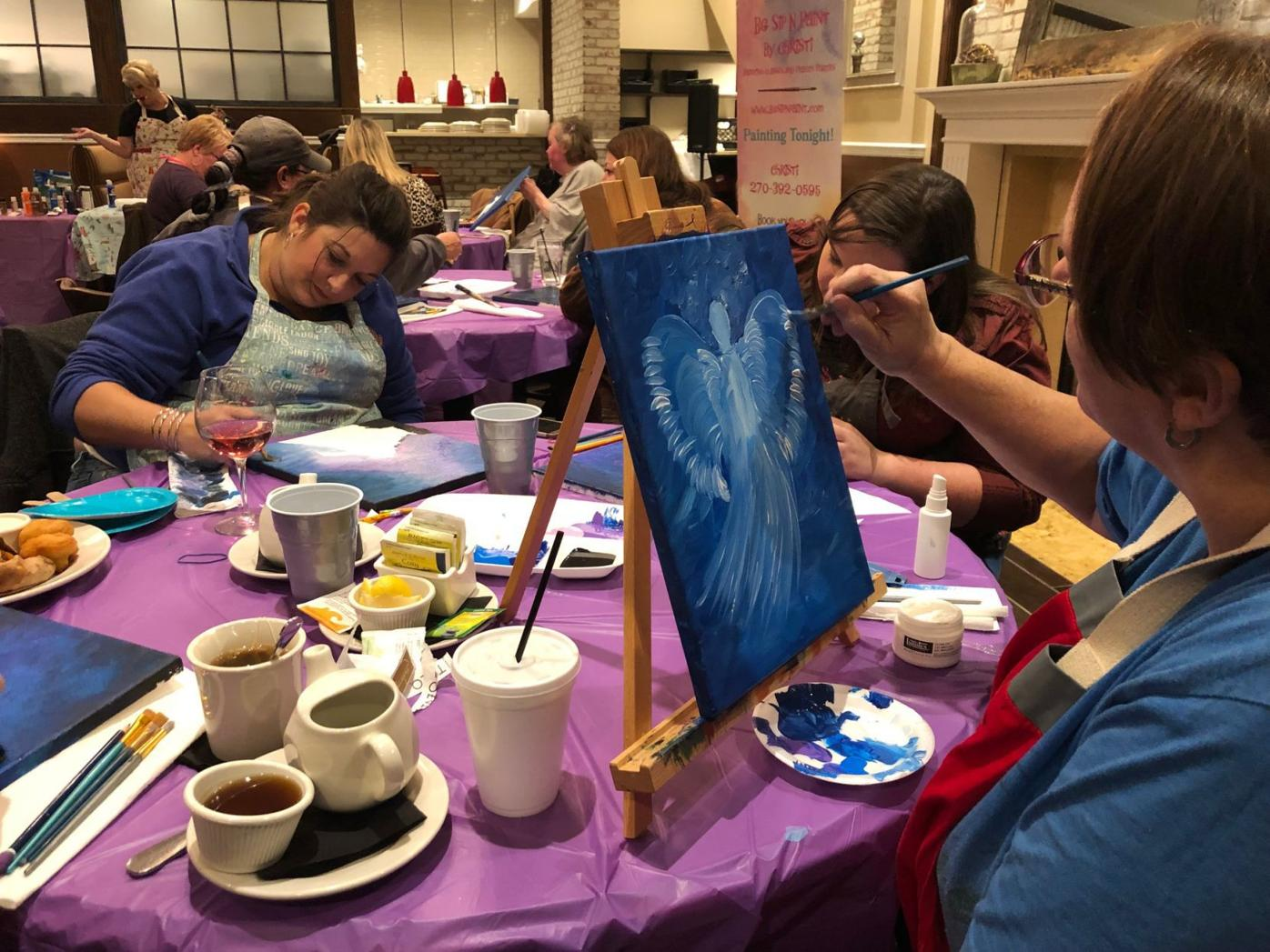 'Crazy idea' of BG Sip N Paint catching on