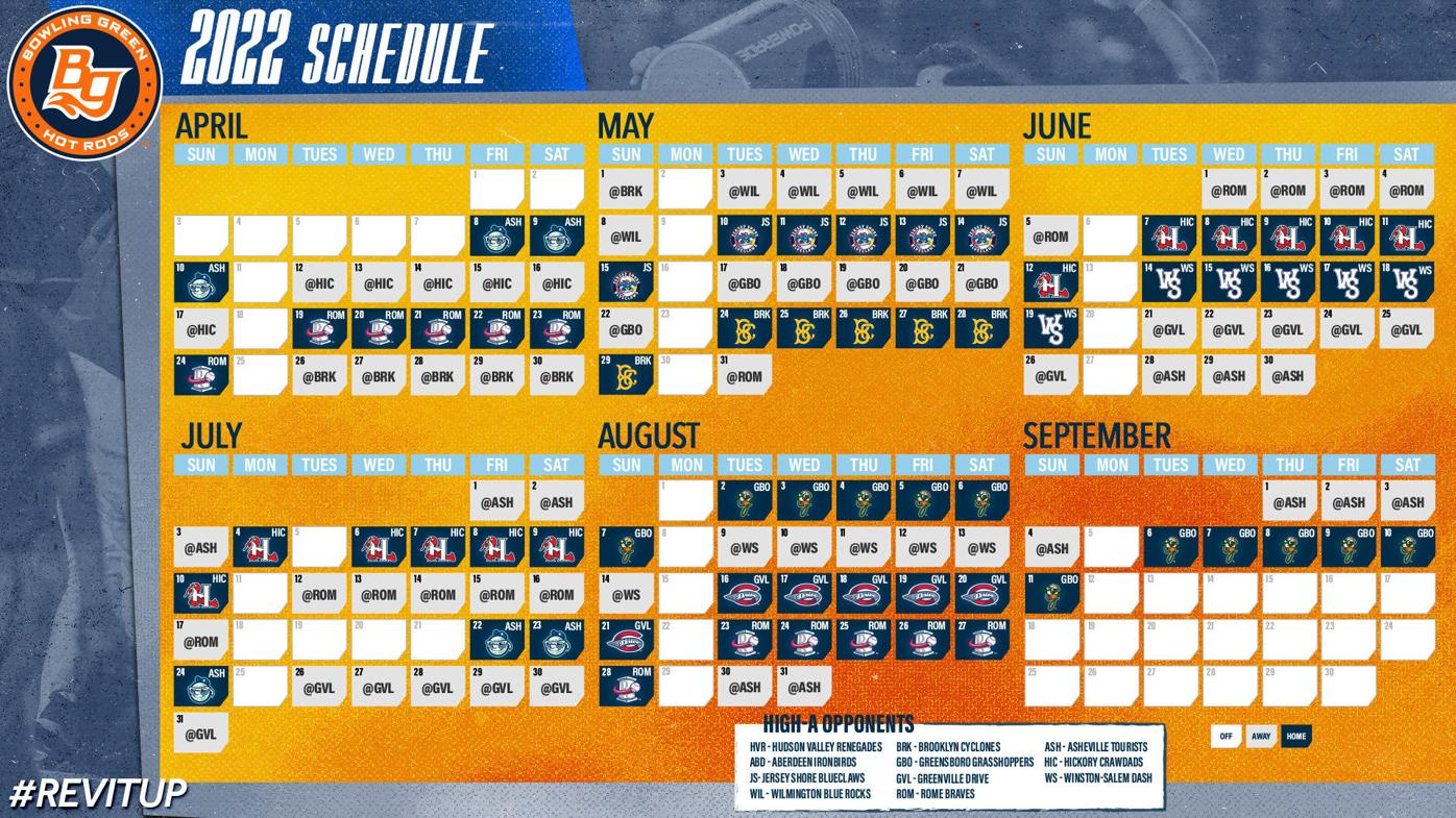 Bowling Green Hot Rods 2022 schedule