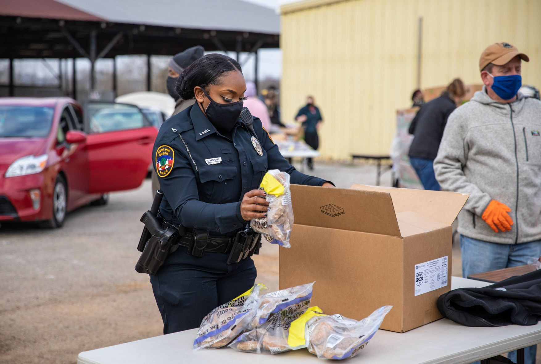 Food delivery 'another way of serving' for BGPD officers