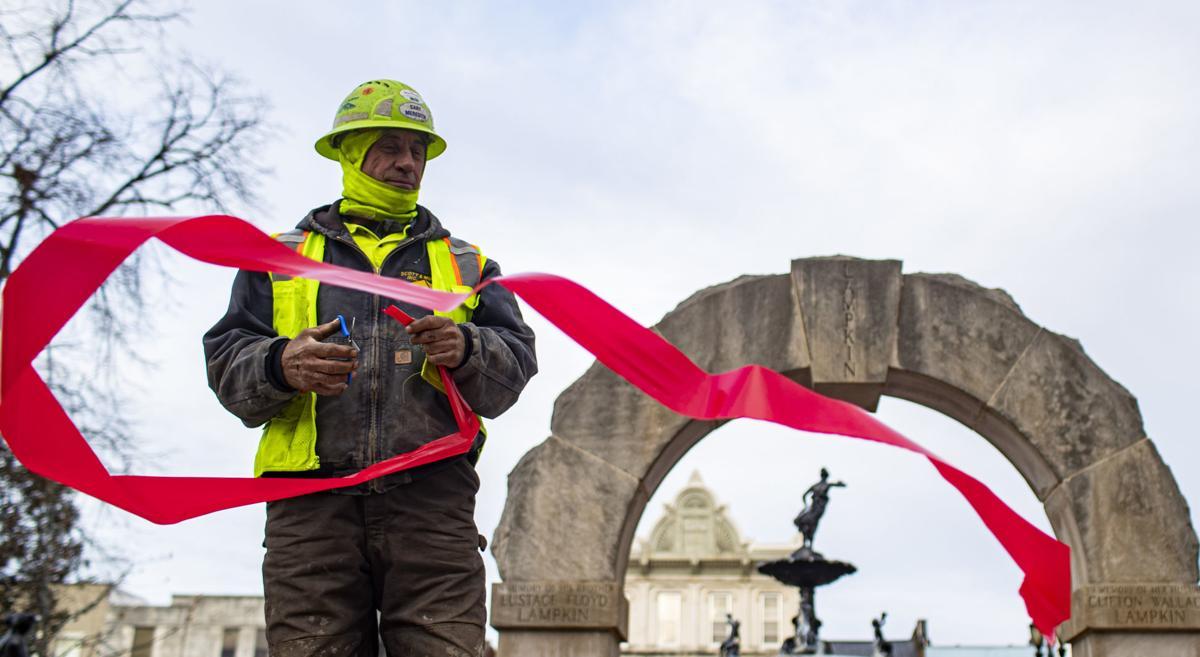 Downtown ribbon cutting