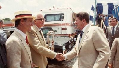 President Reagan visits Bowling Green