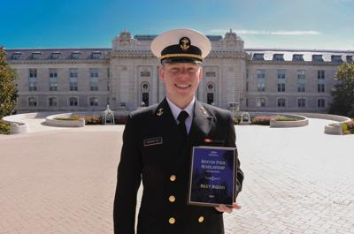 Hogan graduates from Naval Academy