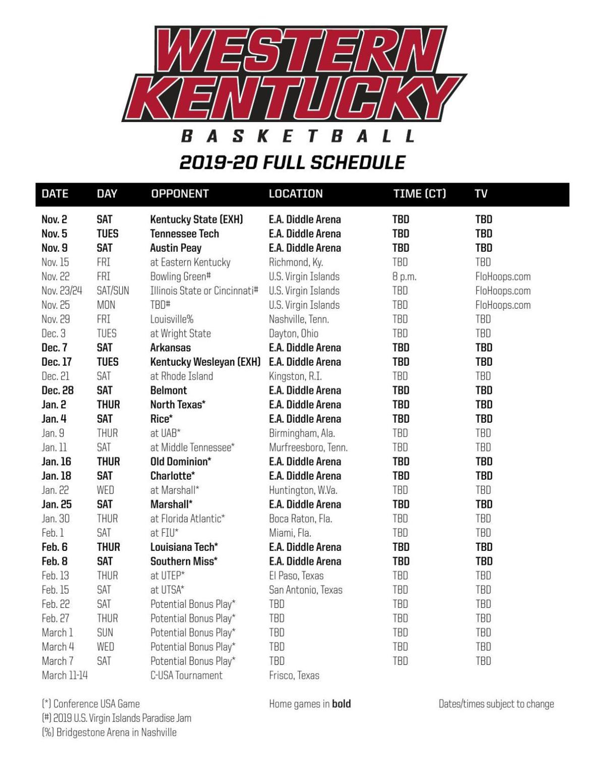 Challenger image inside kentucky basketball schedule printable