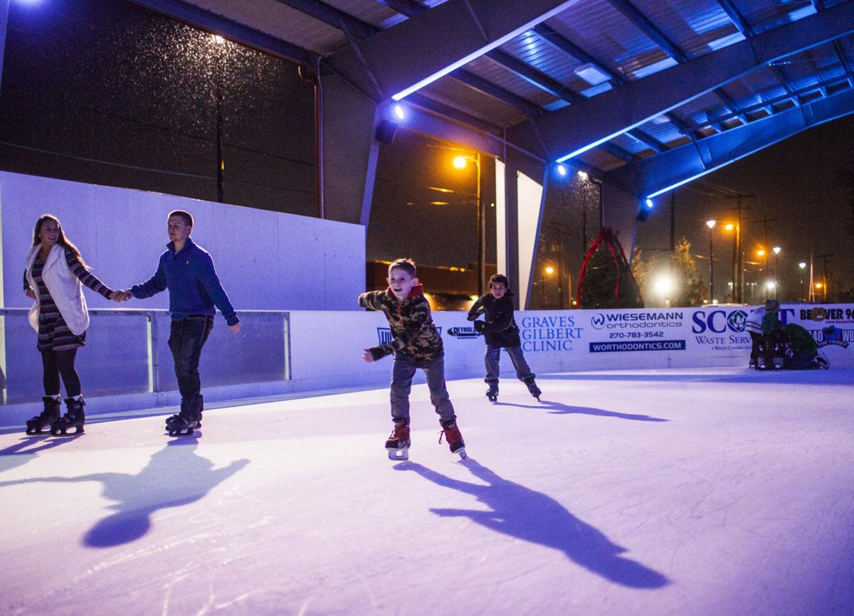 outdoor ice rink opens wednesday ribbon cutting held tuesday
