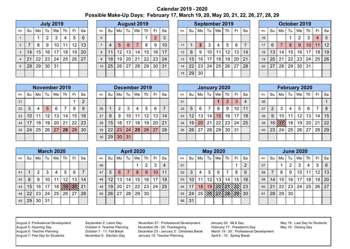 University Of Kentucky Calendar 2020 County school board approves school calendar | | bgdailynews.com